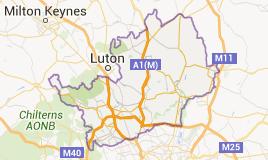 Map of Hertfordshire
