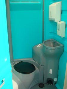 Luxury Portable Toilet interior